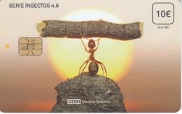 ISN-157 TARJETA DE ESPAÑA DE ISERN DE LA SERIE INSECTOS Nº6  HORMIGA - Insects