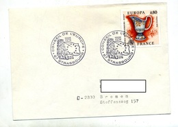 Lettre Cachet Strasbourg Conseil Sur Europa 1976 - Storia Postale