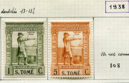 13606 St.Thomas & Prince Collection Vendue Par Page N° 306/7, 326/8, 331/4, 338, 342/3, 344  * / ° /(*)  1938-48  B/TB - St. Thomas & Prince