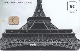ISN-290 TARJETA DE ESPAÑA DE ISERN  DE LA SERIE MONUMENTOS Nº17 TORRE EYFFEL - España