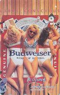 Télécarte Japon / 110-011 - BIERE BUDWEISER & FEMME - BEER & Erotic SEXY BIKINI GIRL Japan Phonecard - 794 - Japan