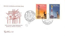 FDC Capitolium Vaticano 1959 - Inaugurazione Radio Vaticana - Non Viaggiata - Francobolli