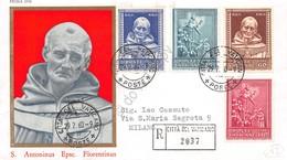 FDC Vaticano 1960 - Sant'Antonino - Raccomandata Viaggiata - Francobolli