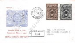 FDC Vaticano 1960 - Primo Sinodo Diocesano Di Roma - Raccomandata Viaggiata - Francobolli