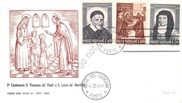 FDC Vaticano 1960 - San Vincenzo De' Paoli - Santa Luisa De' Marillac - Non Viag - Francobolli