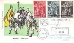 FDC Milvio Vaticano 1961 - San Leone Magno - Raccomandata Viaggiata - Francobolli