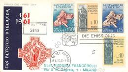 FDC Vaticano 1961 - San Patrizio - Raccomandata Viaggiata - Francobolli