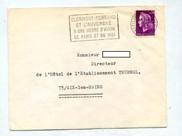 Lettre Flamme Clermont Ferrand 1 Heure Avion - Marcofilia (sobres)