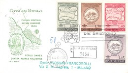 FDC Rodia Vaticano 1962 - Lotta Contro La Malaria - Raccomandata Viaggiata - Francobolli