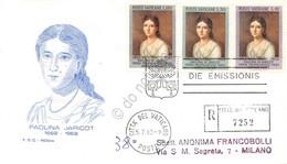 FDC Rodia Vaticano 1962 - Pauline Marie Jaricot - Raccomandata Viaggiata - Francobolli