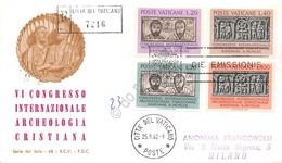 FDC Vaticano 1962 - Archeologia Cristiana - Raccomandata Viaggiata - Francobolli