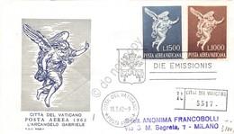 FDC Rodia Vaticano 1962 - Posta Aerea Arcangelo Gabriele Raccomandata Viaggiata - Francobolli