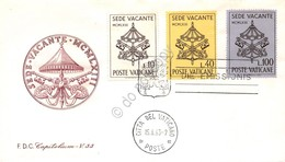 FDC Capitolium Vaticano 1963 - Sede Vacante - Non Viaggiata - Francobolli