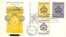 FDC Ala Vaticano 1963 - Sede Vacante - Non Viaggiata - Francobolli