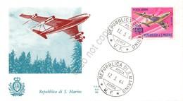 FDC Ala - San Marino 1964 - Posta Aerea - Aerei Moderni - Non Viaggiata - Francobolli