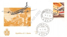 FDC Ala - San Marino 1965 - Posta Aerea - Aerei Moderni - Non Viaggiata - Francobolli