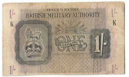 British Military Authority 1 Shilling 1943 - Military Issues