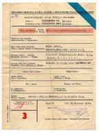 1944 WWII YUGOSLAVIA, CROATIA, NDH, ZAGREB, CROATIAN STATE BANK DOCUMENT, BELGRADE, SERBIA, - Invoices & Commercial Documents