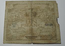 1917/22 - France - UN FRANC, Chambre De Commerce De Nîmes, Série 11, 6040 - Chambre De Commerce