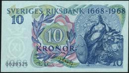 SWEDEN - 10 Kronor 1968 {Sveriges Riksbank 1668-1968} AU-UNC P.56 - Sweden