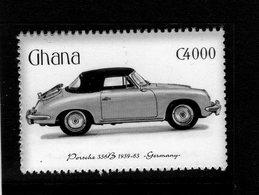 Porsche 356B   (1960)  -  Ghana  1v Neuf/Mint - Voitures