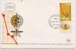 Israel 1962, FDC Malaria, WHO, Mosquito - FDC