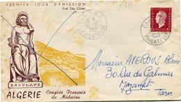 FRANCE LETTRE DEPART PARIS 31-12-1955 PHILATELIE POUR LA FRANCE (utilisation Tardive Du 15F. Marianne De Dulac) - 1944-45 Maríanne De Dulac