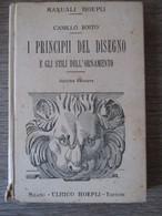 Manuale Hoepli 1925 I Principi Del Disegno - Arts, Architecture
