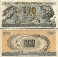 ITALY 500 LIRE 1967 - [ 2] 1946-… : Repubblica