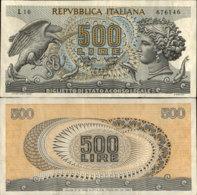 ITALY 500 LIRE 1967 - [ 2] 1946-… : Republiek