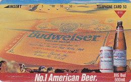 Télécarte Japon / 110-011 - Alcool - BIERE BUDWEISER - BEER Japan Phonecard - BIER - CERVEZA - 798 - Publicité