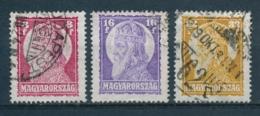 Hongarije/Hungary/Hongrie/Ungarn 1929 Mi: 455-457 Yt: 420-422 (Gebr/used/obl/usato/o)(4528) - Hongarije
