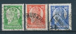 Hongarije/Hungary/Hongrie/Ungarn 1928 Mi: 438-440 Yt: 417-419 (Gebr/used/obl/usato/o)(4529) - Hongarije