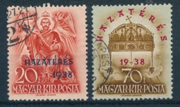 Hongarije/Hungary/Hongrie/Ungarn 1938 Mi: 591-592 Yt: 504-505 (Gebr/used/obl/usato/o)(4532) - Hongarije