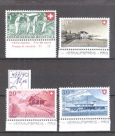 Suisse N° 437/40 ** MNH Et BDF  Cote Yvert & Tellier : 12,00 €. - Nuovi