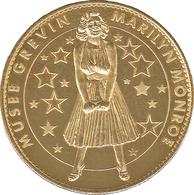 75 PARIS MUSÉE GREVIN MARILYN MONROE MÉDAILLE ARTHUS BERTRAND 2008 JETON MEDALS COINS TOKENS - 2008
