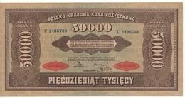 POLAND 50'000 Marek  P33  Dated 10.10.1922 - Pologne
