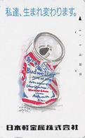 Télécarte Japon / 110-011 - Alcool - BIERE BUDWEISER - BEER Japan Phonecard - BIER - CERVEZA - 780 - Publicité