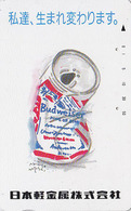 Télécarte Japon / 110-011 - Alcool - BIERE BUDWEISER - BEER Japan Phonecard - BIER - CERVEZA - 780 - Advertising