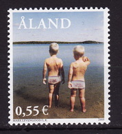 Åland, 2003, Åland Through The Eyes Of Famous People (II), Photo, Beach, 1 Stamp - Aland