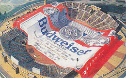 Télécarte Japon / 110-011 - Alcool - BIERE BUDWEISER & Stade - BEER & Stadium Japan Phonecard - BIER - CERVEZA - 800 - Advertising
