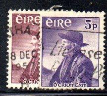 APR1626 - IRLANDA 1957 , Unificato N. 130/131  (2380A) . O Crohan - 1949-... Repubblica D'Irlanda
