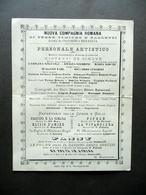 Nuova Compagnia Romana Opere Comiche Balletti Cartoncino Repertorio Teatro - Vecchi Documenti