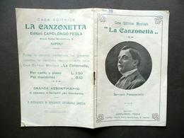 Gennaro Pasquariello La Canzonetta Capolongo Feola Napoli Primo '900 Musica - Vecchi Documenti