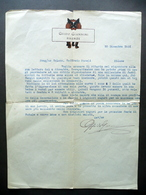 Guido Giannini Firenze Lettera 20 Dicembre 1931 Ferri Aldini Legatore Di Libri - Vecchi Documenti