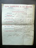 Ditta Ginolino Le Boffe Ricevuta Plateattico Ottovolante Giostra Volante 1923 - Vecchi Documenti