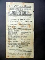 Locandina Giacosa Mattinata Dei Giornalisti Onoranze Gambardella Di Giacomo 1914 - Vecchi Documenti