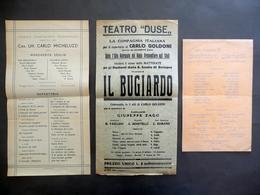 3 Locandine Teatro Duse Comica Compagnia Veneziana Giro Artistico Giachetti '900 - Vecchi Documenti