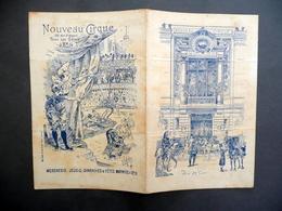 Cartoncino Programma Nouveau Cirque 1896 Clowns Foottit Et Chocolat Teatro Raro - Vecchi Documenti