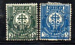 APR1636 - IRLANDA 1922 , Unificato N. 62/63  Usato  (2380A)  Anno Santo - Usati